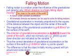 falling motion
