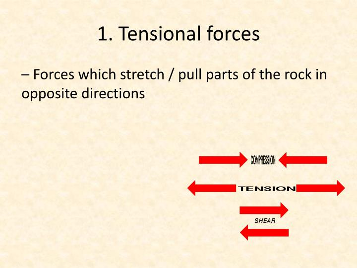 1. Tensional forces
