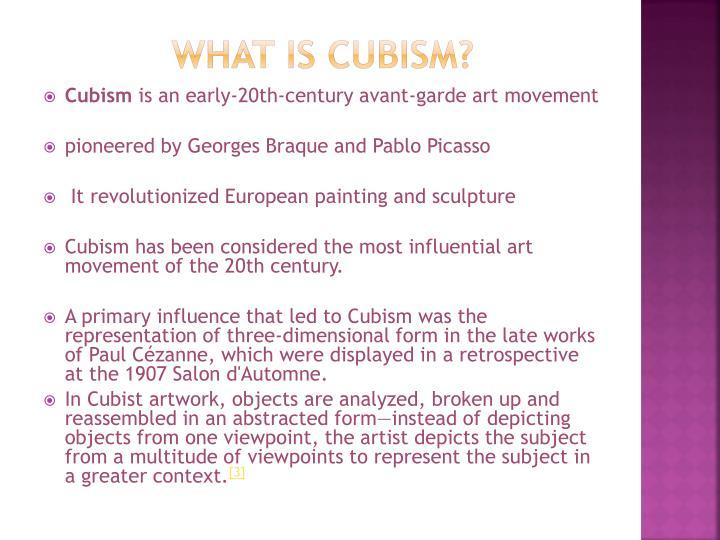 PPT - CUBISM PowerPoint Presentation - ID:2848865