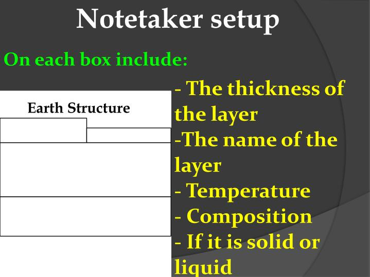Notetaker setup