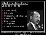 what qualities does a leader possess