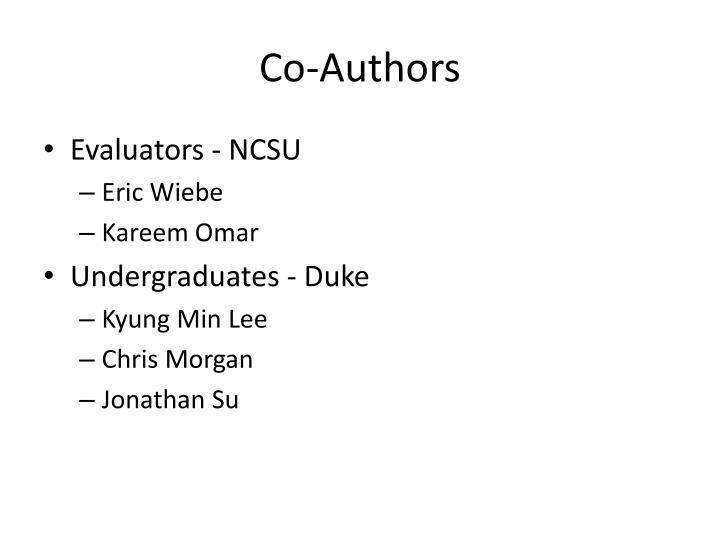Co-Authors