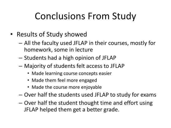Conclusions From Study