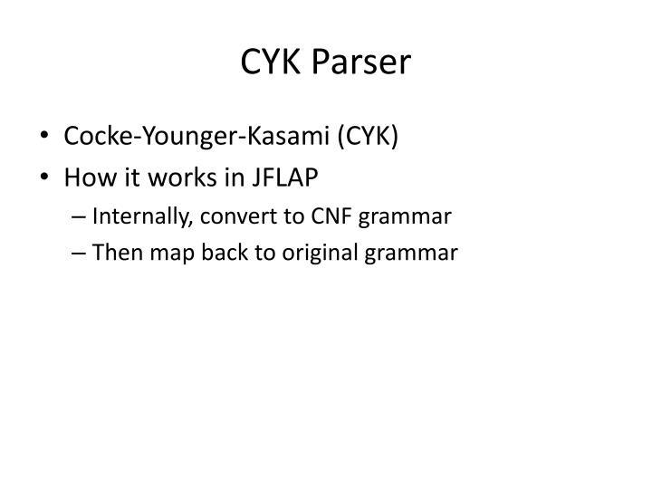 CYK Parser