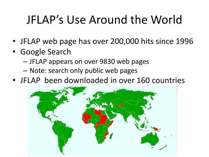 JFLAP's Use Around the World