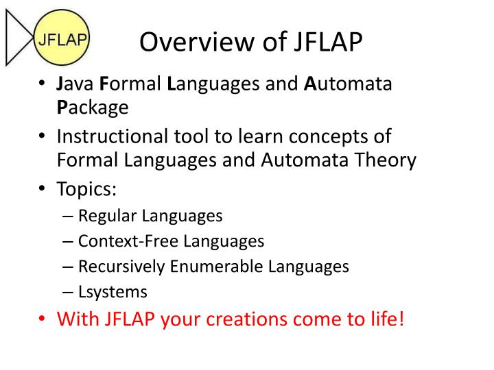 Overview of JFLAP