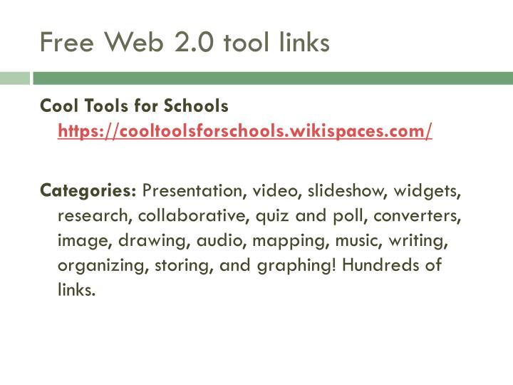 Free Web 2.0 tool links