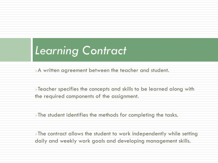 Learning Contract