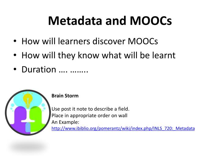 Metadata and MOOCs
