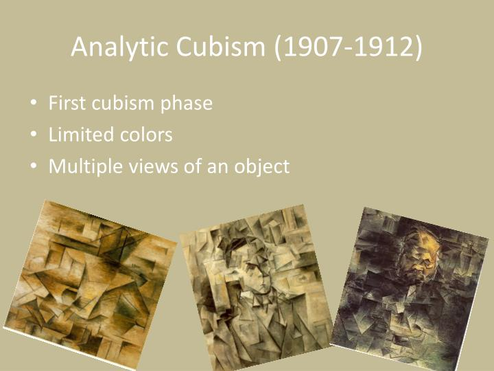 Analytic Cubism (1907-1912)