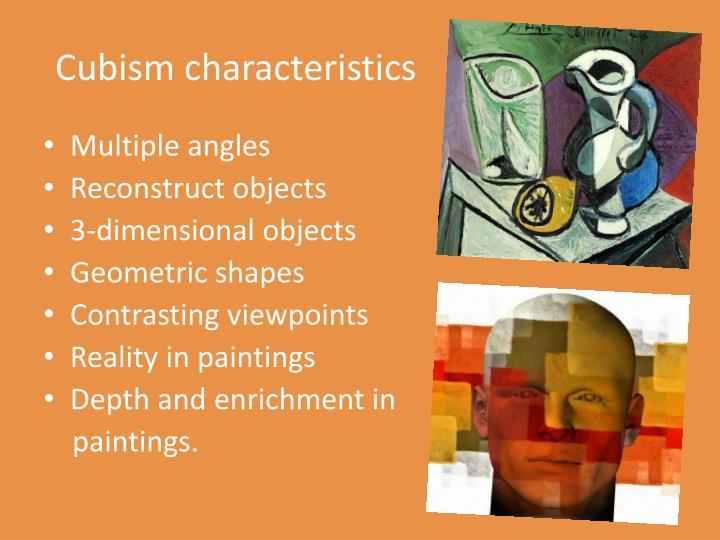 Cubism characteristics