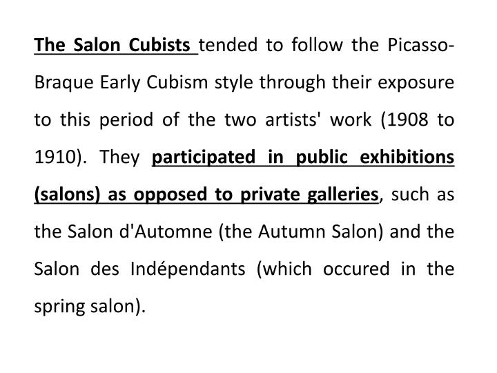 The Salon Cubists