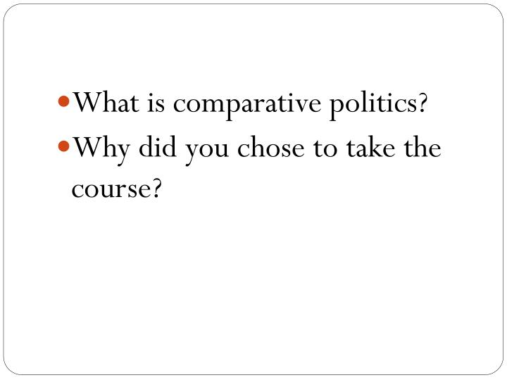 What is comparative