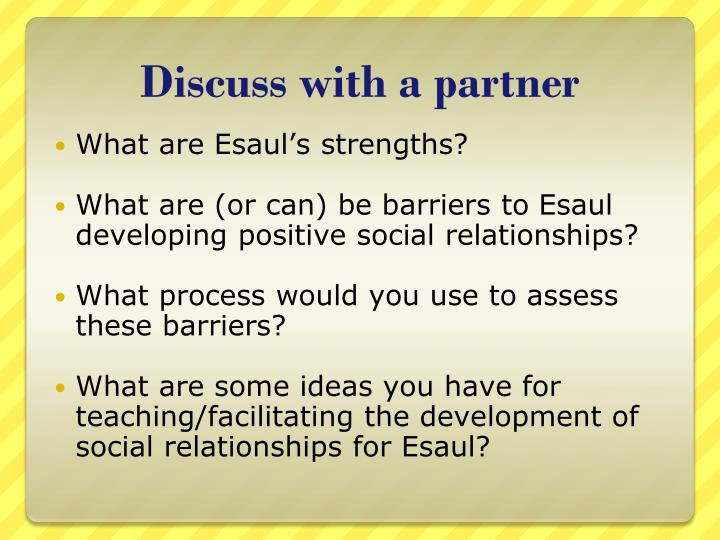 Discuss with a partner