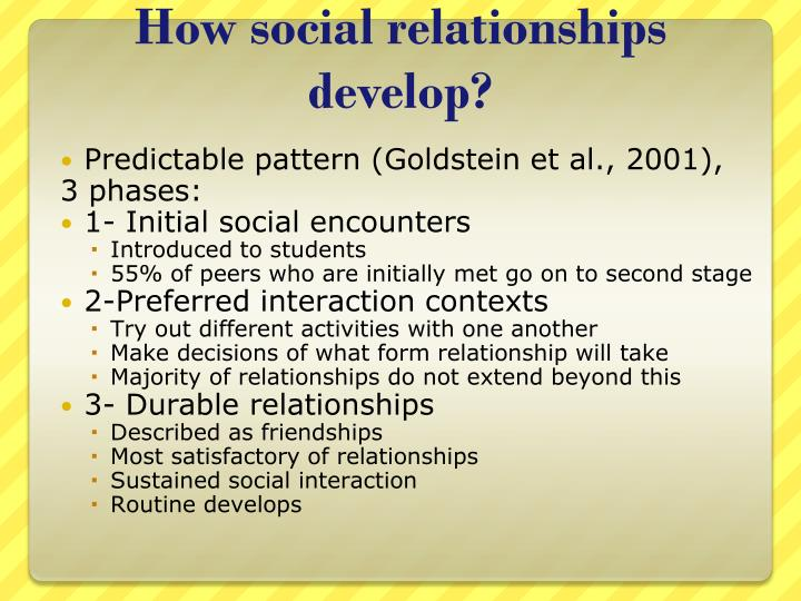 How social relationships develop?