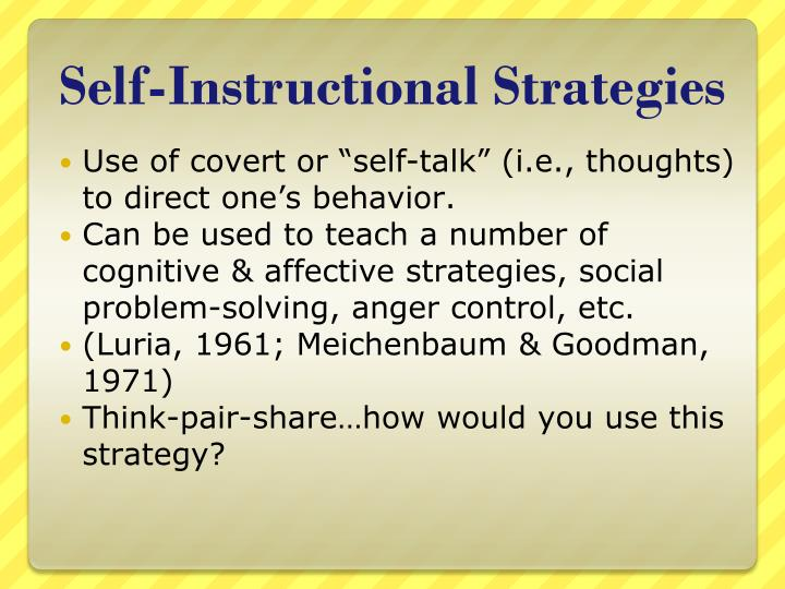 Self-Instructional Strategies