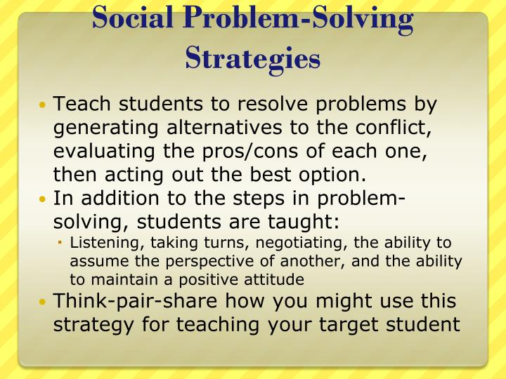 Social Problem-Solving Strategies