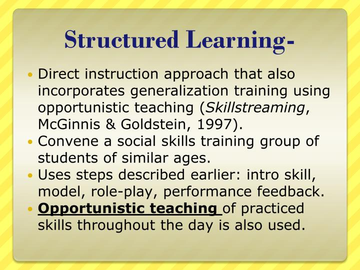 Structured Learning-