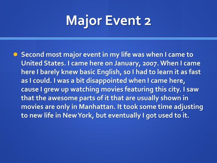 Major Event 2