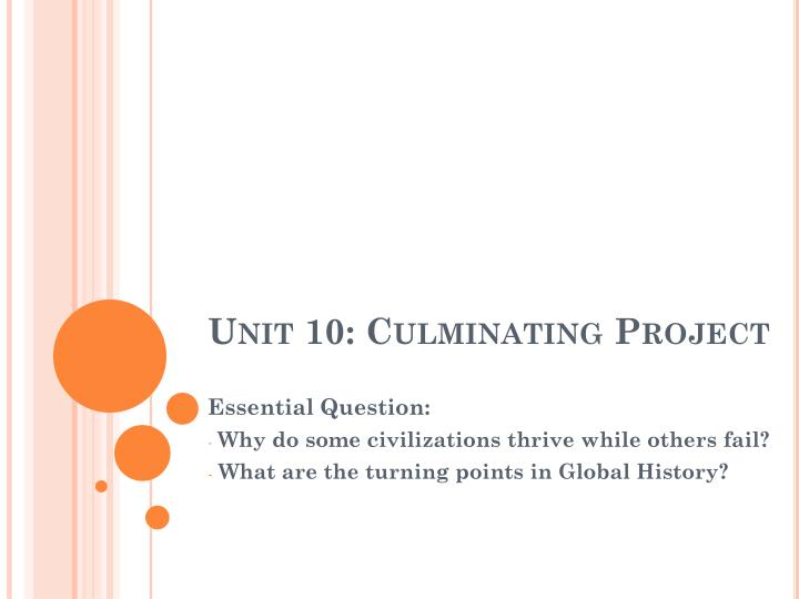 Unit 10 culminating project