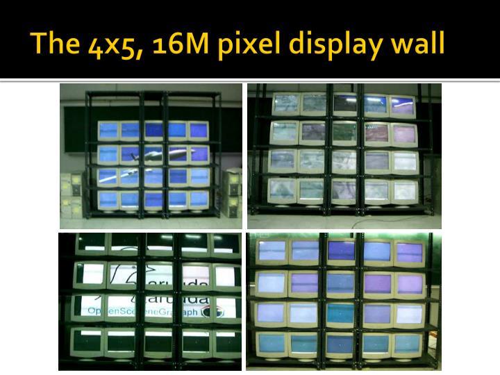 The 4x5, 16M pixel display wall