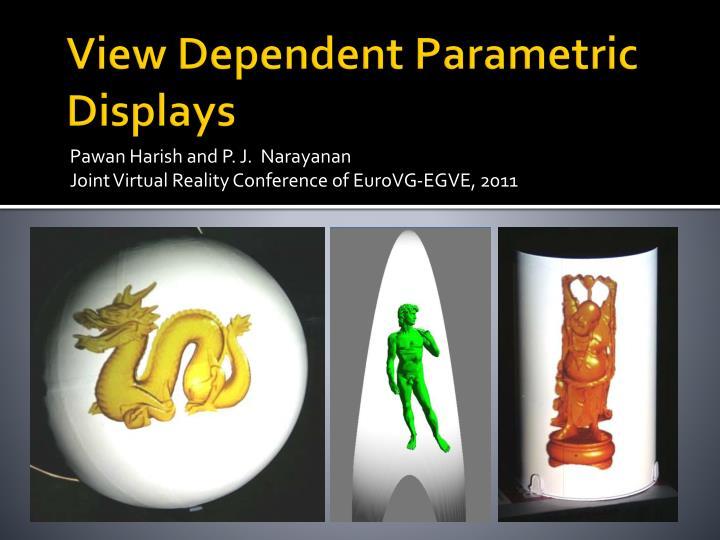 View Dependent Parametric Displays