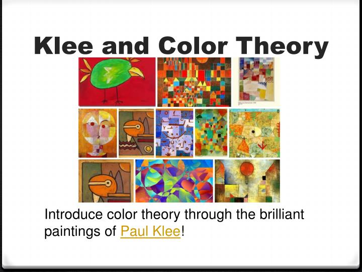 Klee and Color Theory