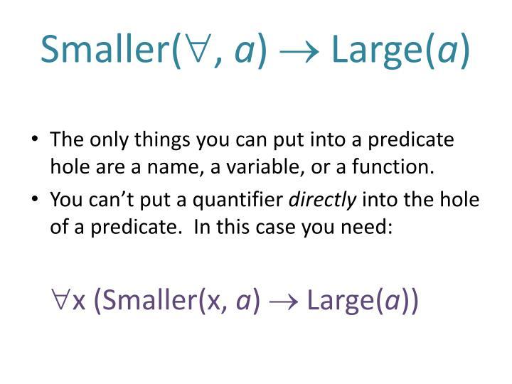 Smaller(
