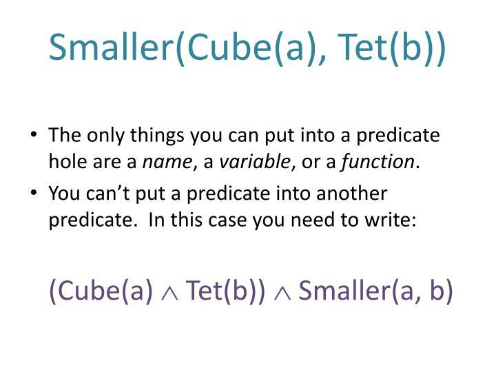 Smaller(Cube(a),