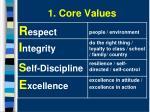 1 core values