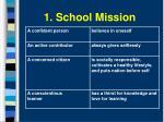 1 school mission