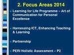 2 focus areas 2014