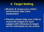 4 target setting