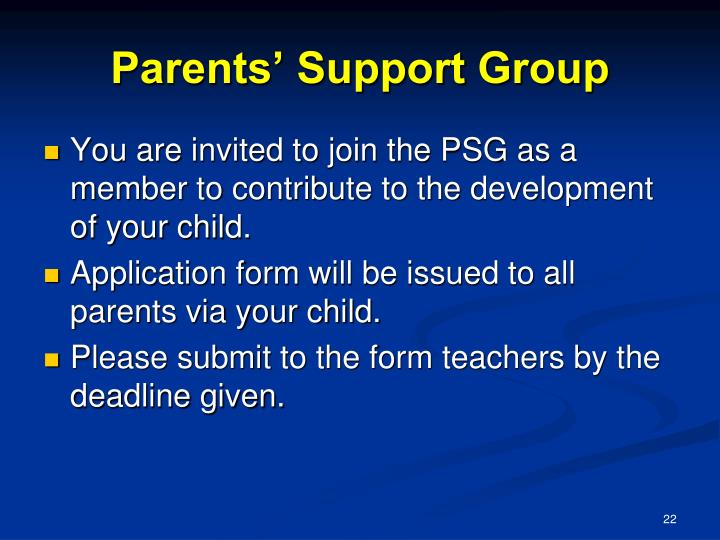 Parents' Support Group