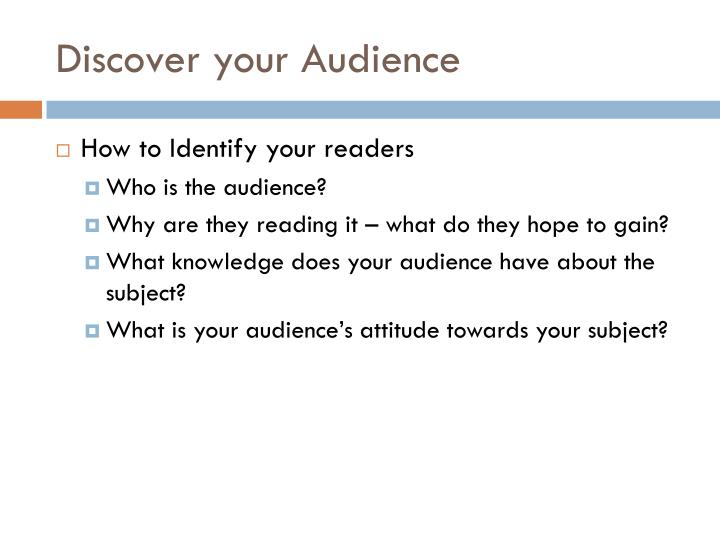 Discover your Audience
