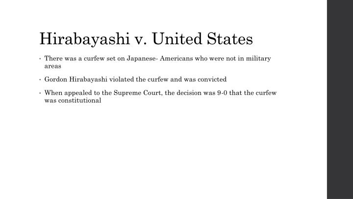 hirabayashi v united states racial discrimination