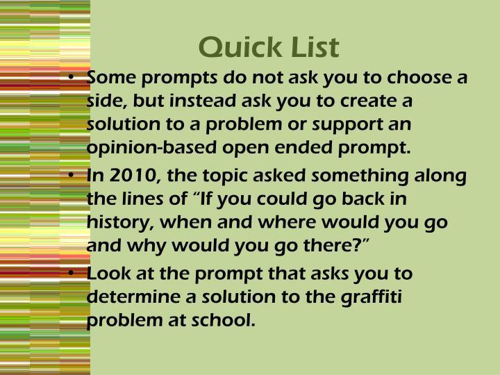 Quick List