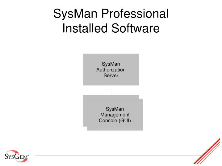 Sysman professional installed software