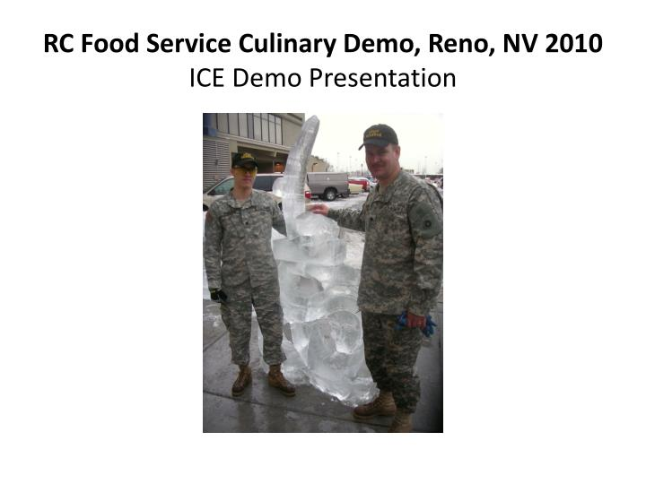 RC Food Service Culinary Demo, Reno, NV 2010