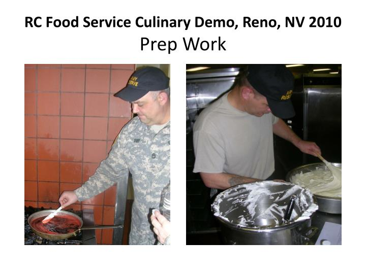 Rc food service culinary demo reno nv 2010 prep work1