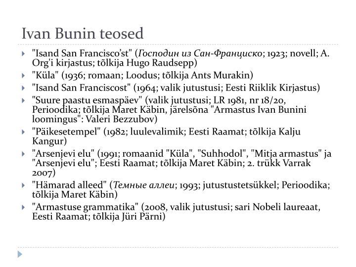 Ivan Bunin teosed