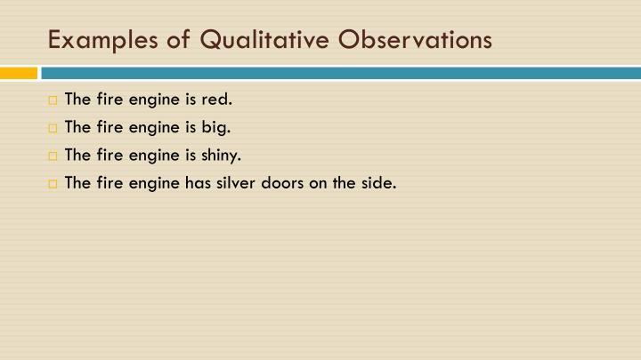 PPT - The History of Measurement PowerPoint Presentation ... Qualitative Observations