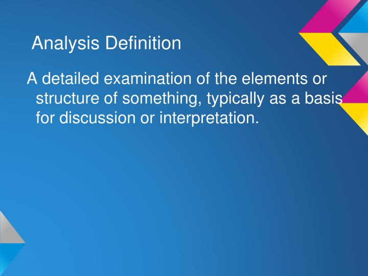 Analysis Definition