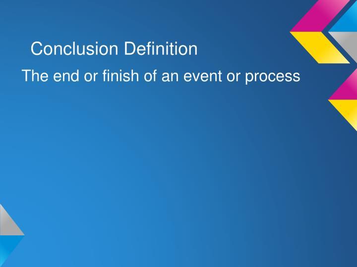 Conclusion Definition