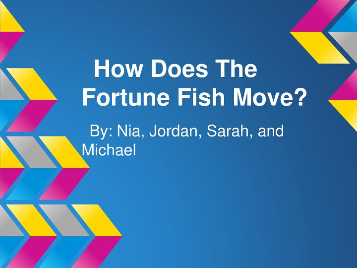 How Does The Fortune Fish Move?