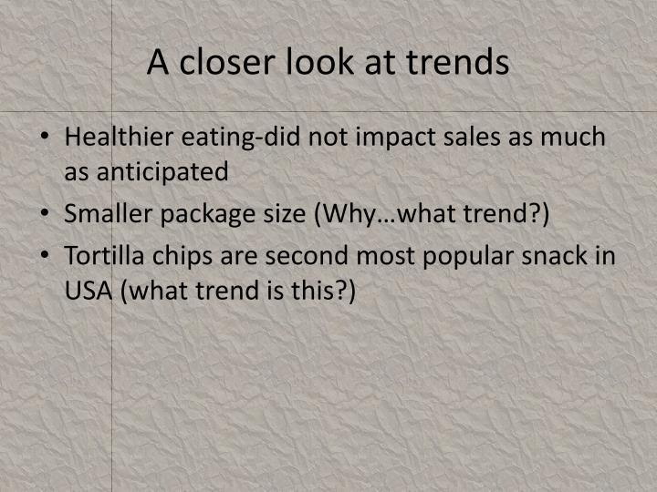 A closer look at trends