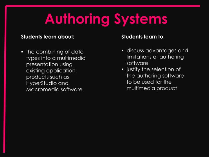 Authoring systems