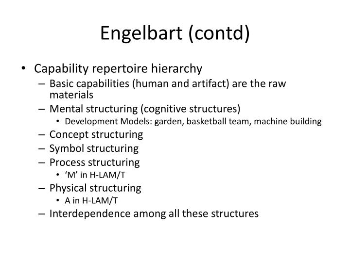 Engelbart (contd)