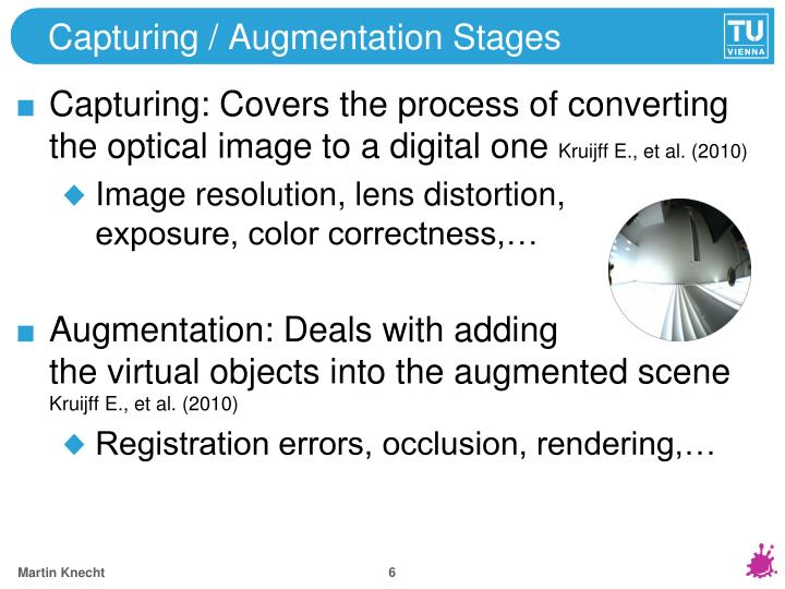 Capturing / Augmentation Stages
