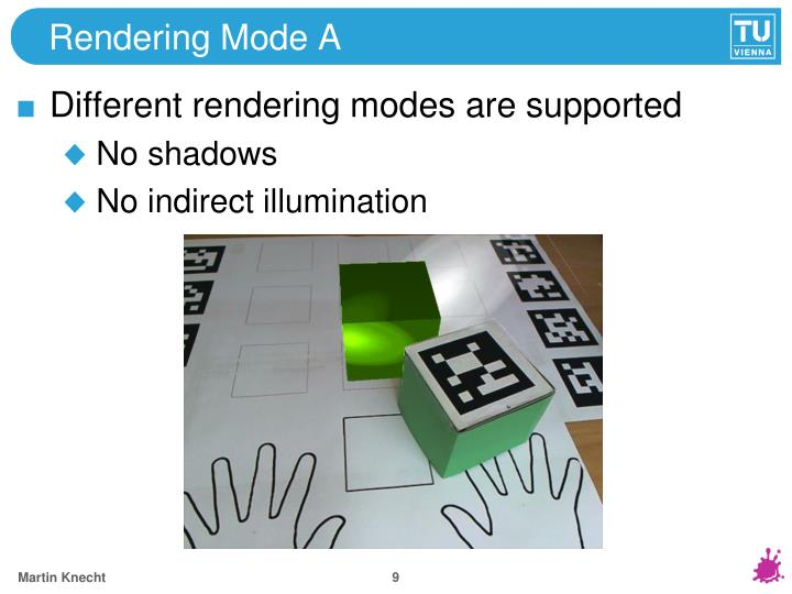 Rendering Mode A